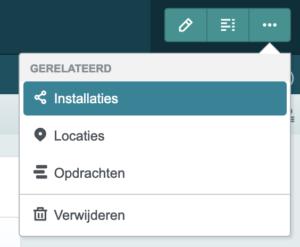 Context menu klant